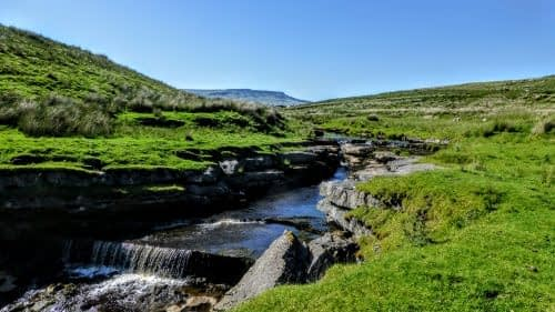 The young River Ure, Garsdale Head