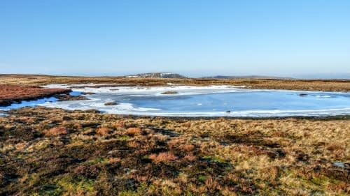Frozen tarn on Whernside