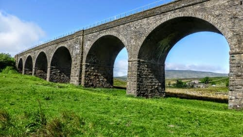 The arches of Dandrymire Viaduct, Garsdale Head