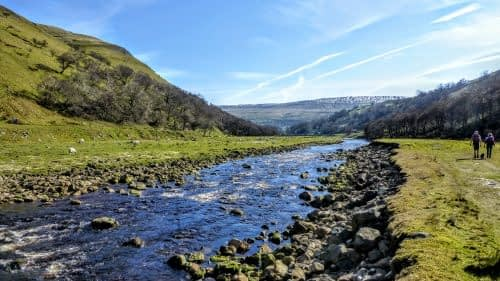 River Swale flowing through Kisdon Gorge