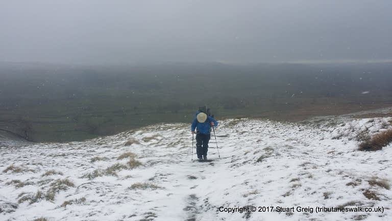 Winter conditions on the path between Malham and Settle