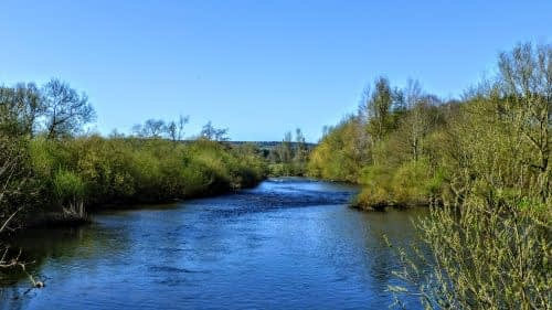 Looking down a bend in the River Eden