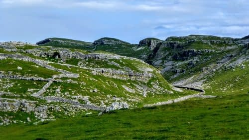 Limestone crags above Malham Cove