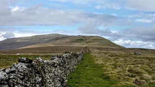 Following the wall, ascending Whernside
