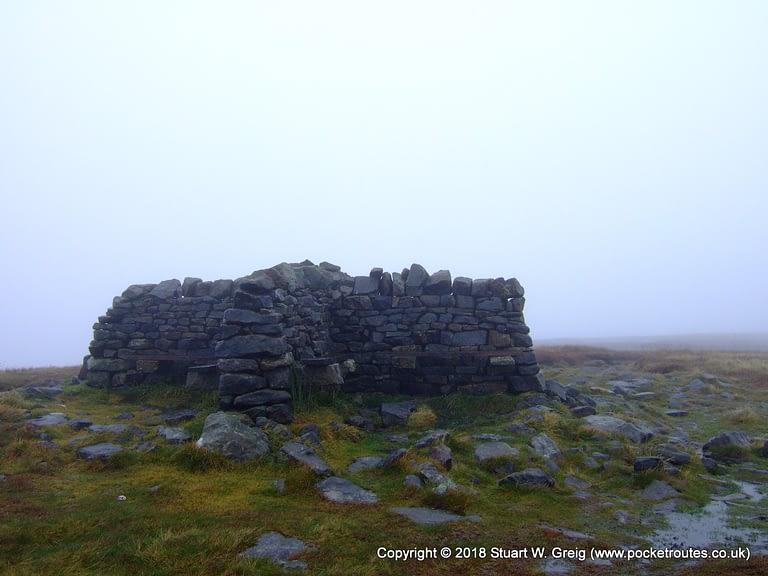 Cross shelter on Great Shunner Fell summit