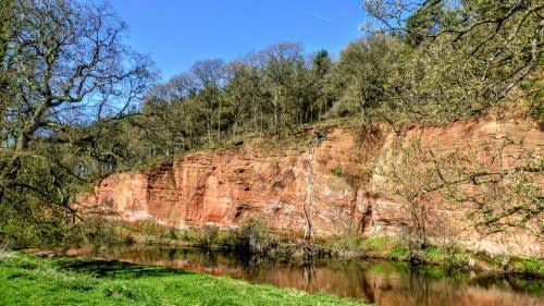 More sandstone cliffs, Temple Sowerby
