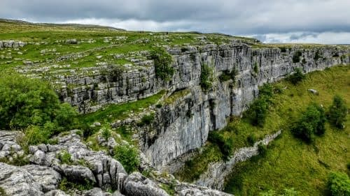 The eastern wall of Malham Cove