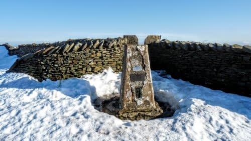 Trig point pillar, Whernside