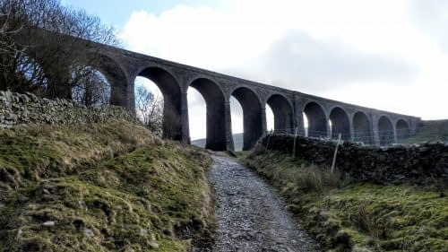 Walking beneath Artengill Viaduct