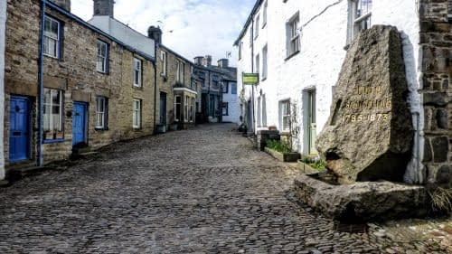 Cobbled main street, Dent