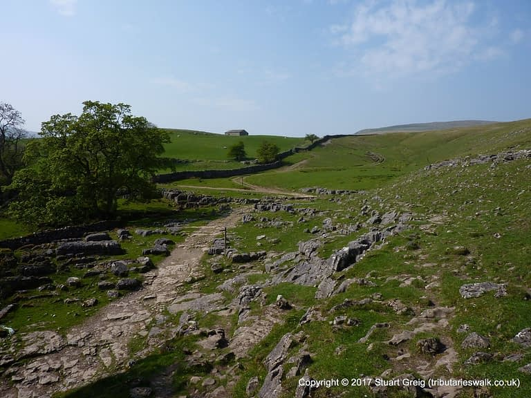 Limestone abounds at Scar House, above Langstrothdale