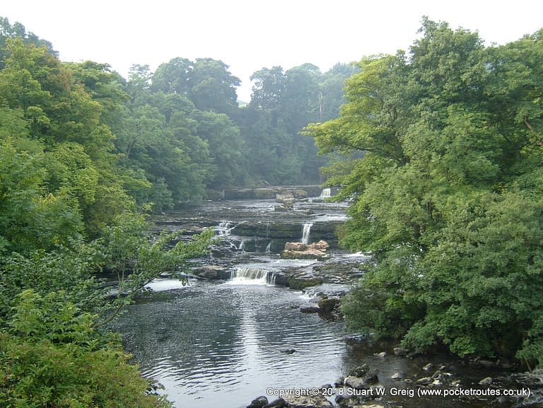 High Force or Upper Falls at Aysgarth, the least interesting of the three falls