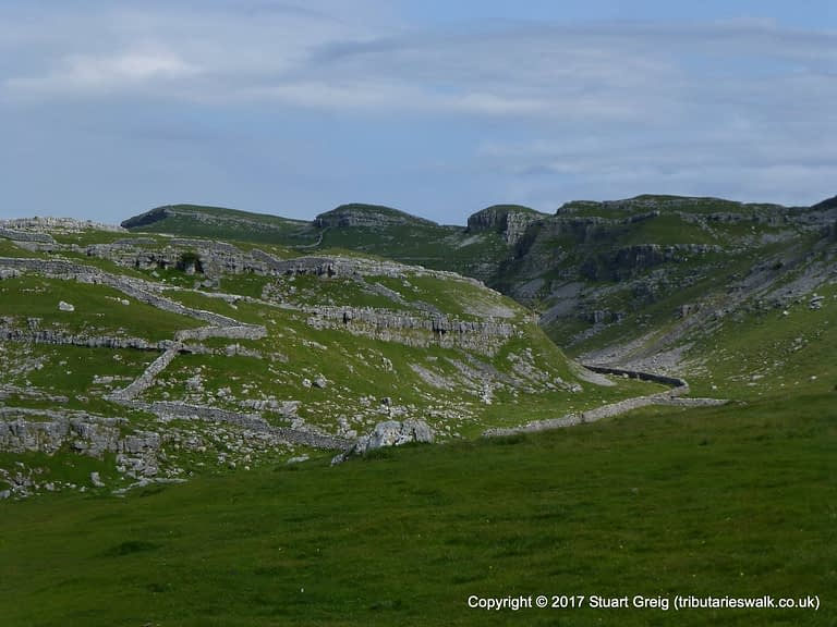 Limestone scars and scenery at Watlowes