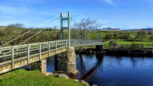 'Swing Bridge' over the Swale, Reeth