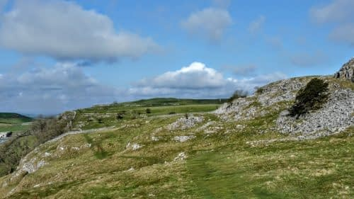 The path from Settle, along Giggleswick Scar