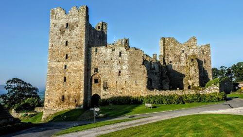 Bolton Castle dominates the village