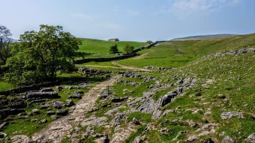Path through the limestone, Scar House