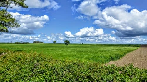 Big skies and green fields, Morton-on-Swale