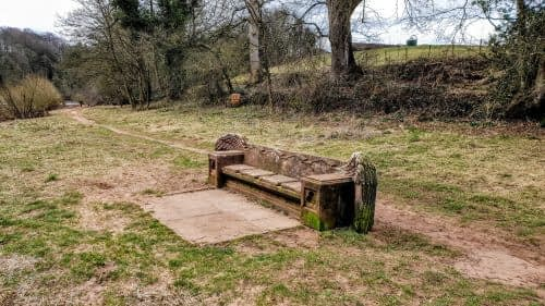 Eden Benchmark, bench outside Wetheral