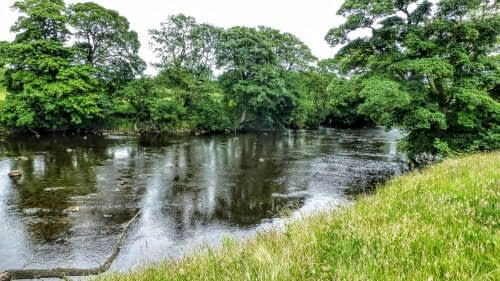 River Ure on approach to Masham