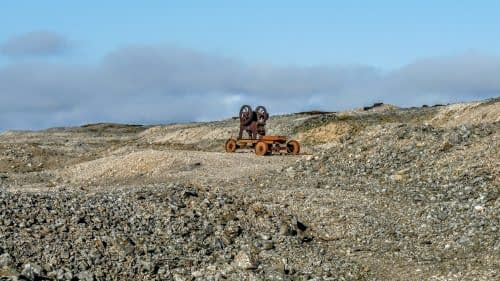 Rusting ore crusher, Melbecks Moor
