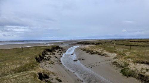 The Eden exits into the sea, Desmene Marsh