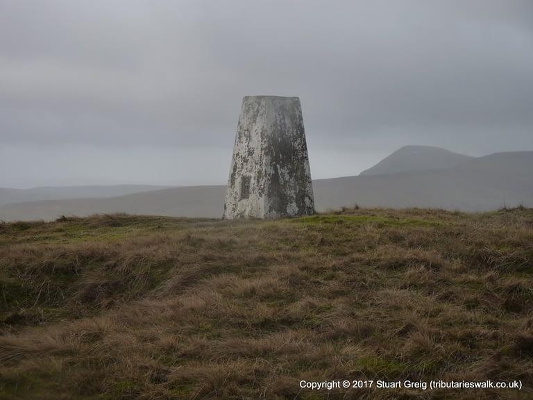 Trig point on Horse Head Moor