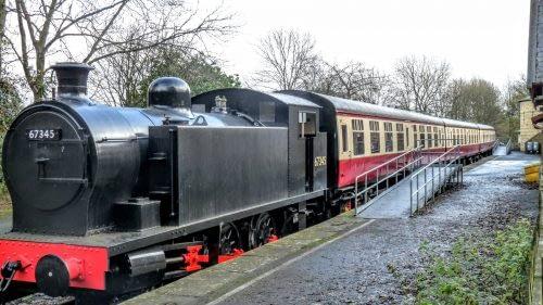 Steam train, outside Hawes